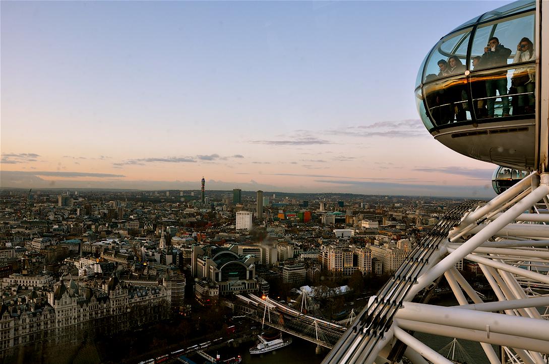 london eye skyline. _ London skyline from the